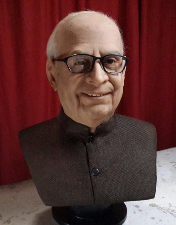 Hyper real sculpture of Dr Baliramji Hiray